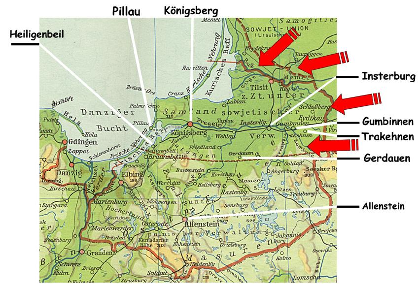 Karte Ostpreußen Vor 1945
