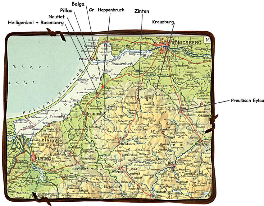 Ostpreußen 1945 Karte